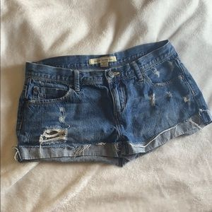 Cute Ripped Jeans Shorts
